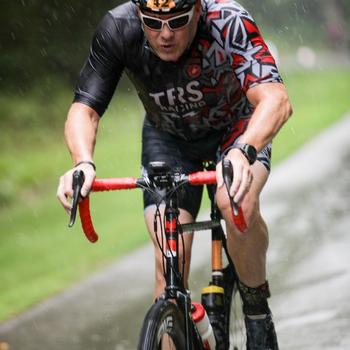 Rain fun at the inaugural Ugly Dog Triathlon