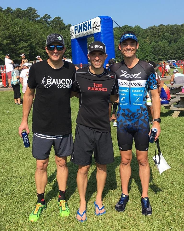 2018 Sunfish Triathlon (on the left, with Steve Happel, Team Fusion and Richard Parker, Team Zoot)