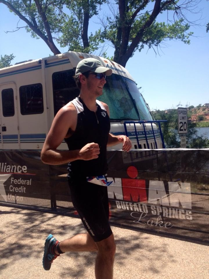 Coming into the finishing line at Buffalo Springs 70.3