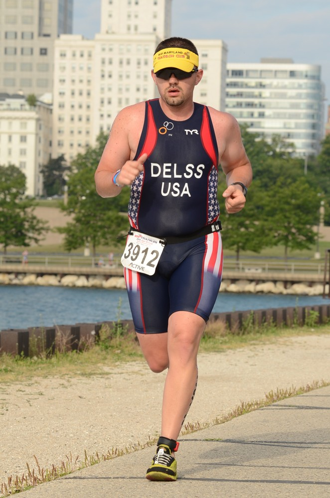 A shot of me on the run course at Age Group Nationals in Milwaukee